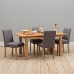 Light Oak Set of 6 Grey Linen Dining Chairs 808.096_yhxi5y0f