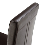 Light Oak Brown Leather Dining Chair 808.131.3