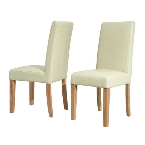 Milano Cream Leather Dining Chair including free delivery  : 80813214 from www.pinesolutions.co.uk size 500 x 500 jpeg 13kB