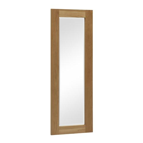 Rivermead oak long wall mirror including free delivery for Long living room mirror