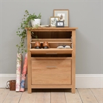 Rivermead Oak Shoe Storage Cupboard 808.857_z454chbf