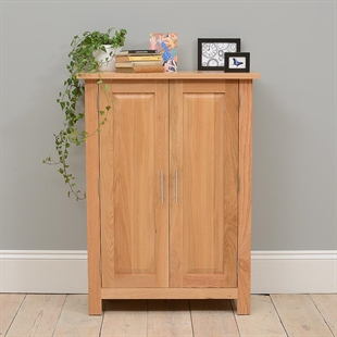 Rivermead Oak Large Shoe Cupboard