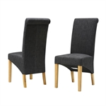 Charcoal Linen Rollback Dining Chair 808.869_iddg5ynz