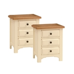 Clermont Shabby Chic Pair Bedside Cabinets 902.431.1