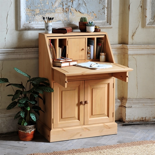 Farmhouse Pine Small Writing Bureau including free delivery 916 132W