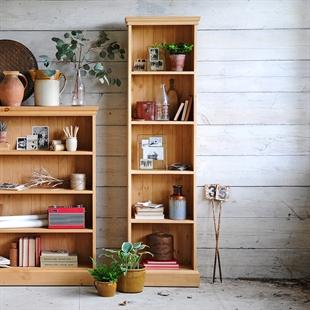 Farmhouse Pine Extra Narrow Bookcase (6ft high)