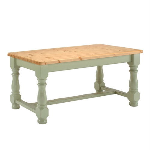 Farmhouse 6ft x 3ft Dining Table in Soft Sage including free delivery