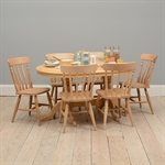 Farmhouse Pine Large Round Table and 6 Chairs 916.398_yz1gkxwa