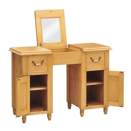 Kensington pine hidden storage dressing table including