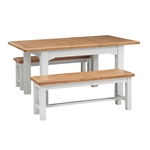 Clermont Grey Painted 125-165cm Ext. Dining Table 922.416_be963jxc