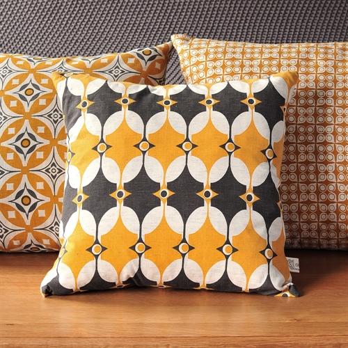 Adhira Cushion in Saffron Yellow