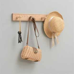 Henderson Oak 4 Hook Coat Rack