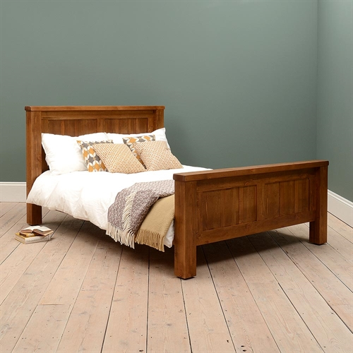 Industrial Pine 4'6 Double Bed
